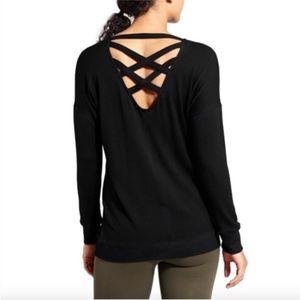 Athleta Cya Criss Cross Back Pullover Sweatshirt